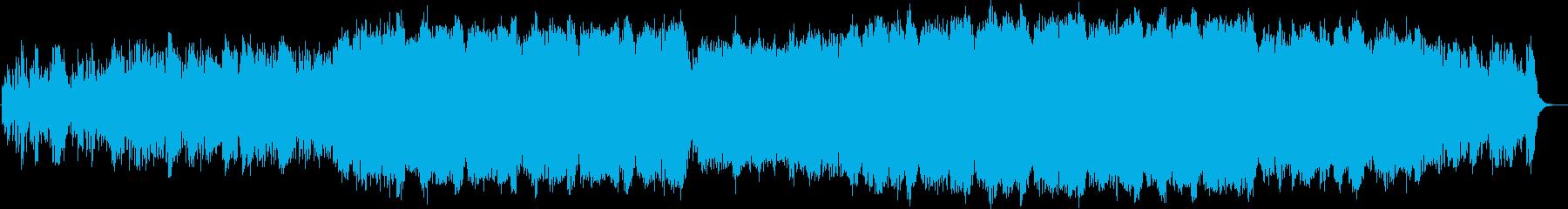電子音が左右飛び交う心地よいアンビエントの再生済みの波形