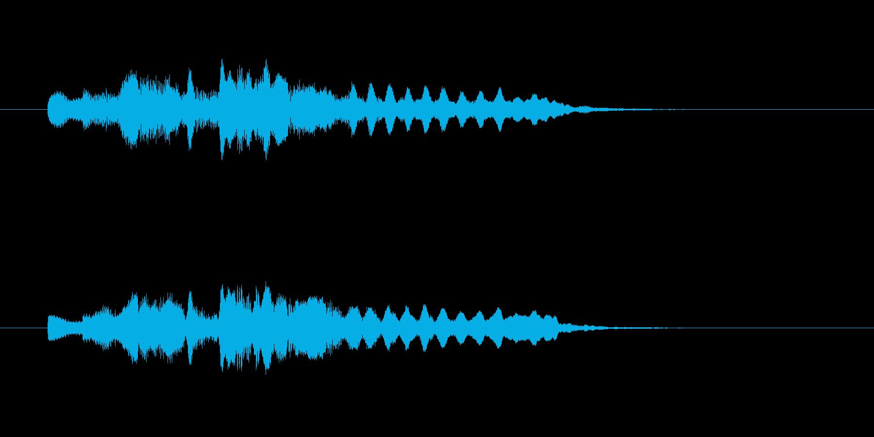フルートのやさしいメロディーの再生済みの波形