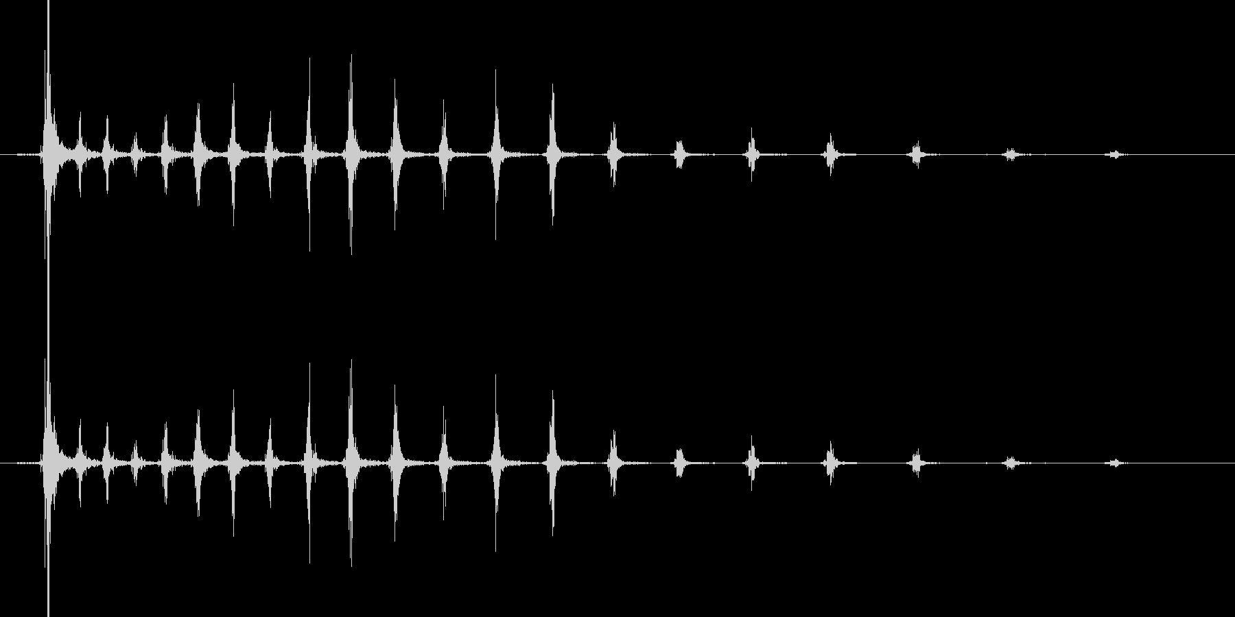 ピチュルルル・・・ル・ル・・ンの未再生の波形