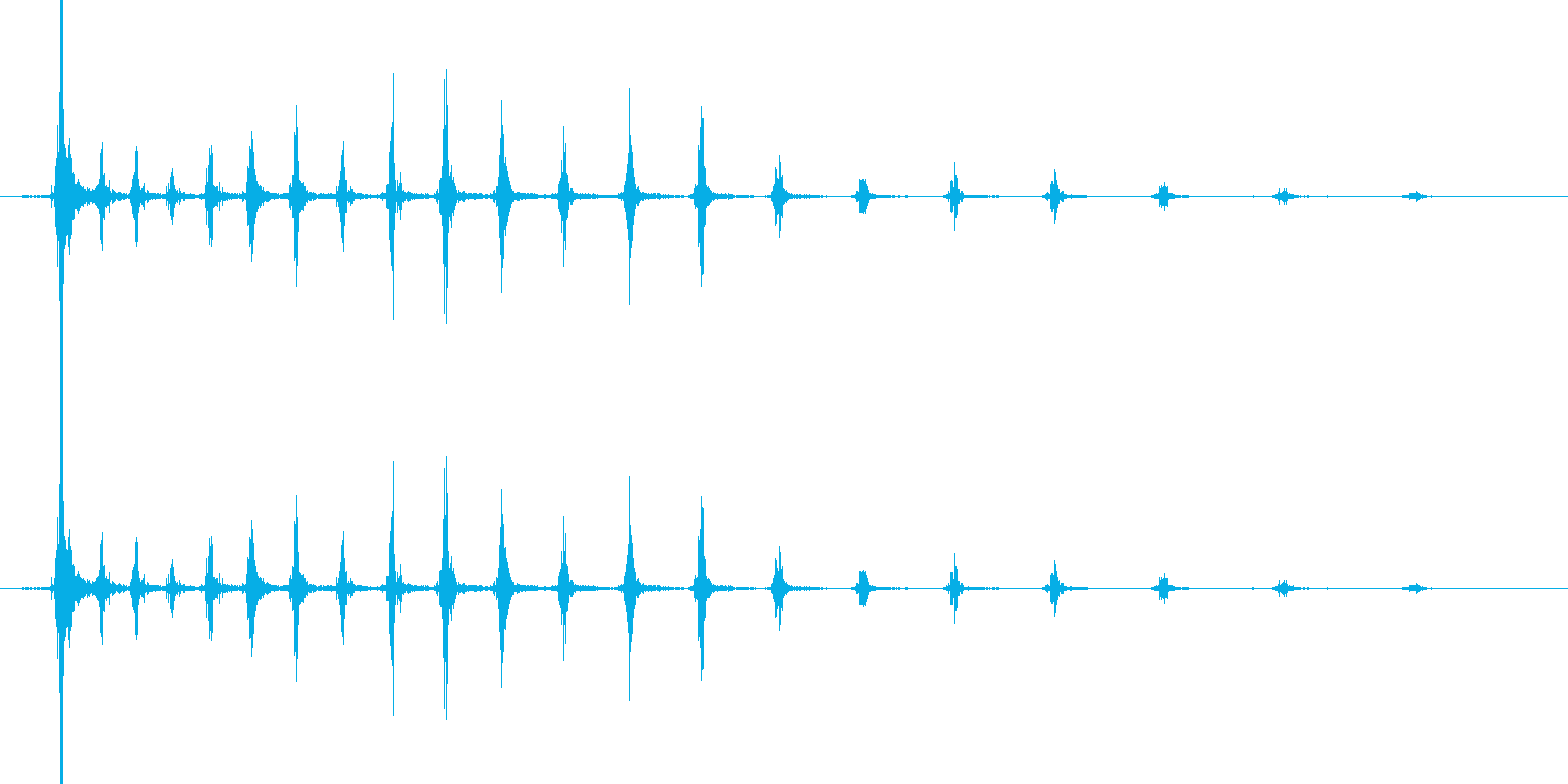 ピチュルルル・・・ル・ル・・ンの再生済みの波形