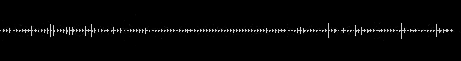 バイノーラル足音走るスニーカー女性左の未再生の波形