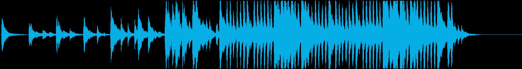 暗く切ない雰囲気のストリングスの再生済みの波形