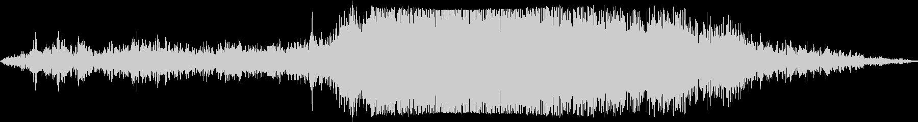 プロペラ機が滑走路から離陸の未再生の波形