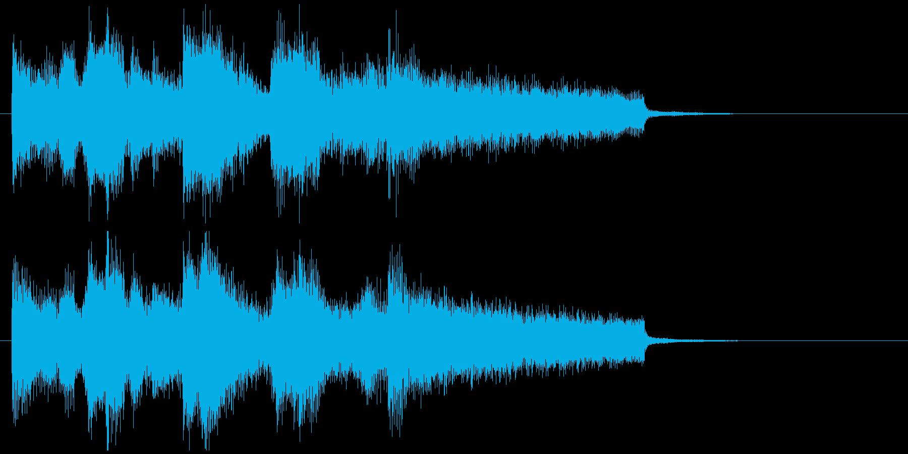 爽やかボサノバサックスの滑らかジングルの再生済みの波形