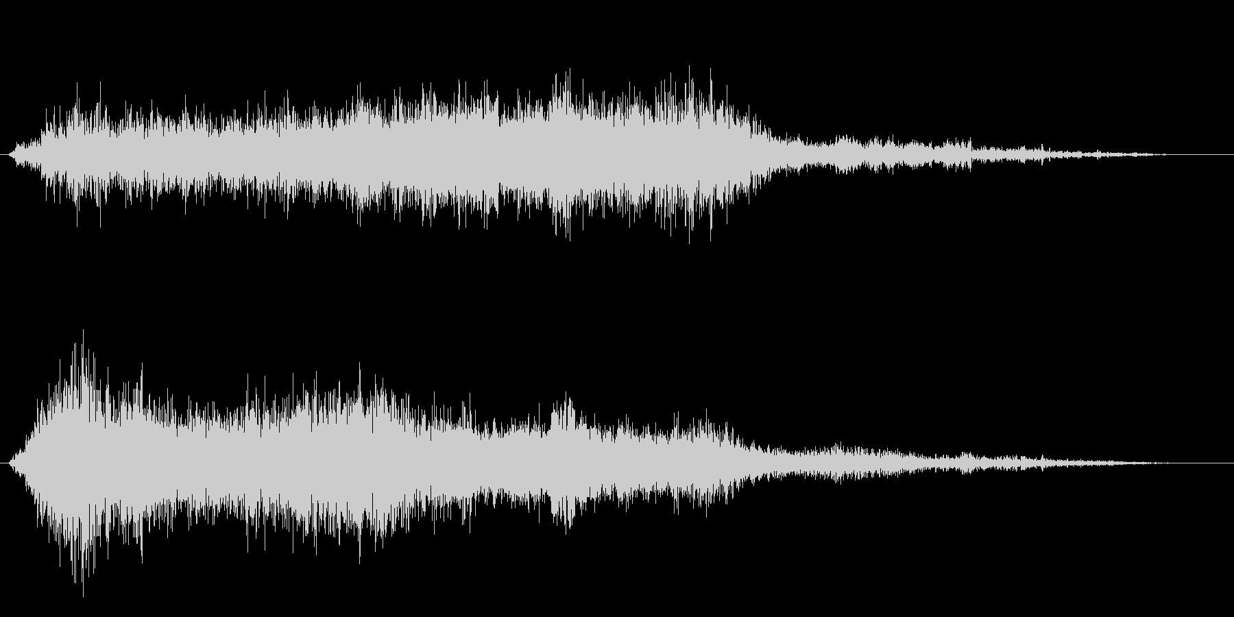 ホラー映画に出てきそうなノイズ系音源02の未再生の波形