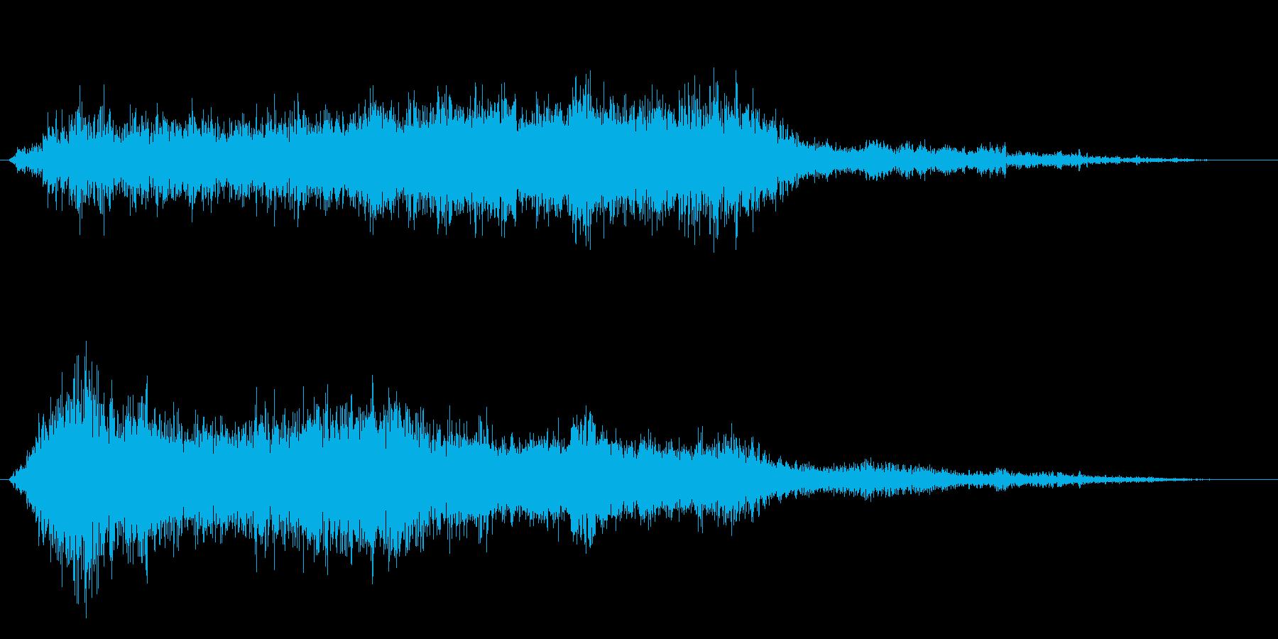ホラー映画に出てきそうなノイズ系音源02の再生済みの波形
