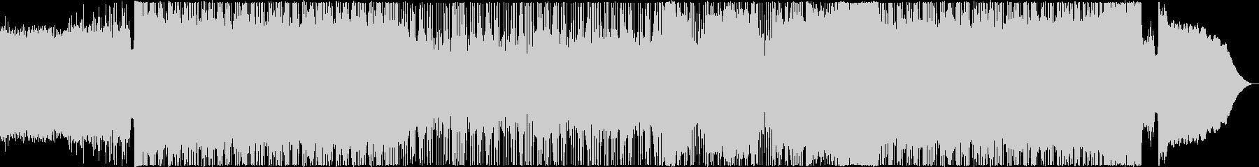 ノリノリのファンキーなメタルの未再生の波形