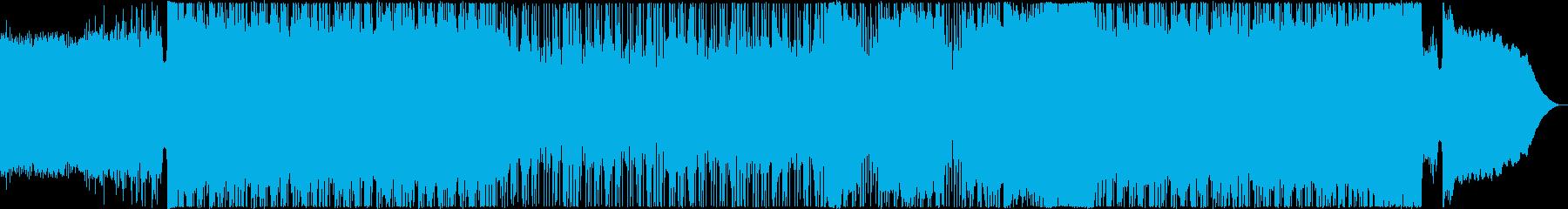 ノリノリのファンキーなメタルの再生済みの波形