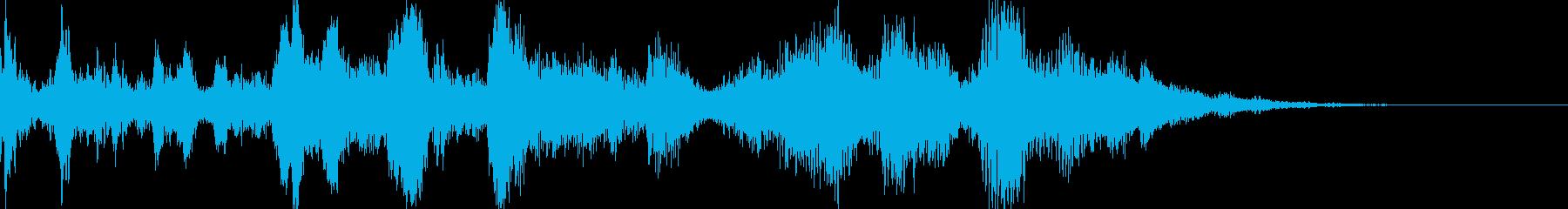 大型の機械の電源が落ちた音の再生済みの波形