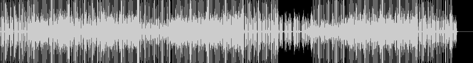 ミディアムテンポのダンサブルサウンドの未再生の波形