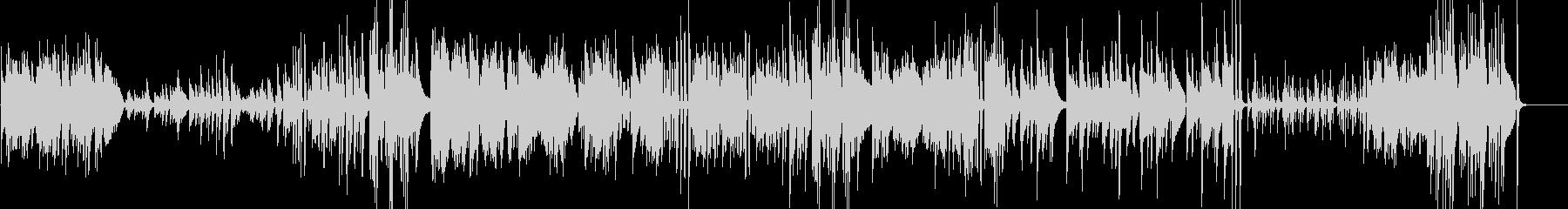 エンディングに合うピアノソロの未再生の波形