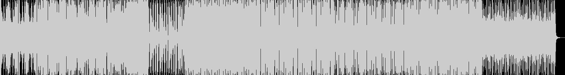 重低音エレクトロダンスミュージックの未再生の波形