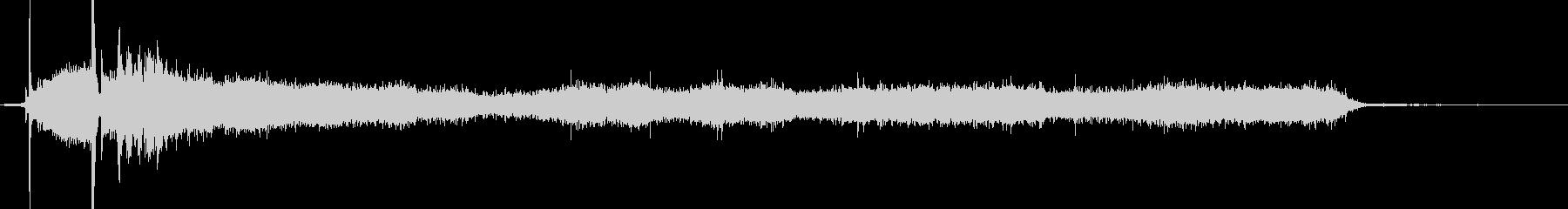 ハンドヘルドビデシャワーの未再生の波形