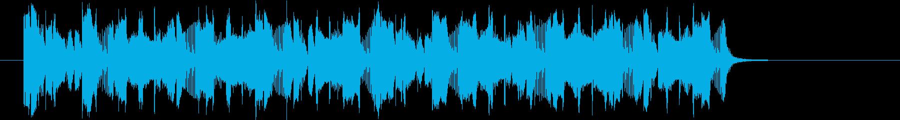 クイズ番組の出題に流れる音ですの再生済みの波形