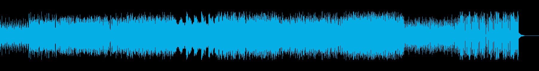 安定した雰囲気 前向きシンセBGMの再生済みの波形