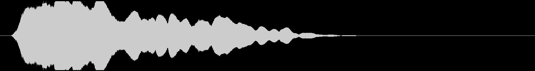 透明感のある衝突音(D2)の未再生の波形