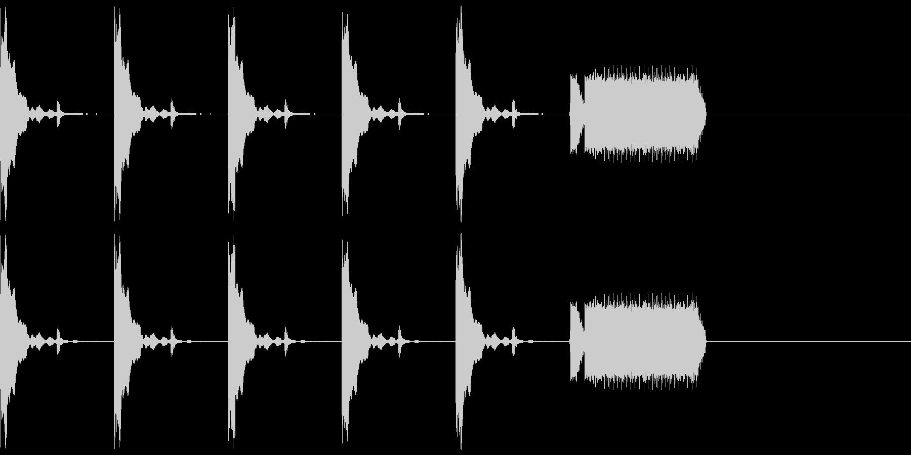 カウントダウン5秒チクタク+ホイッスルの未再生の波形