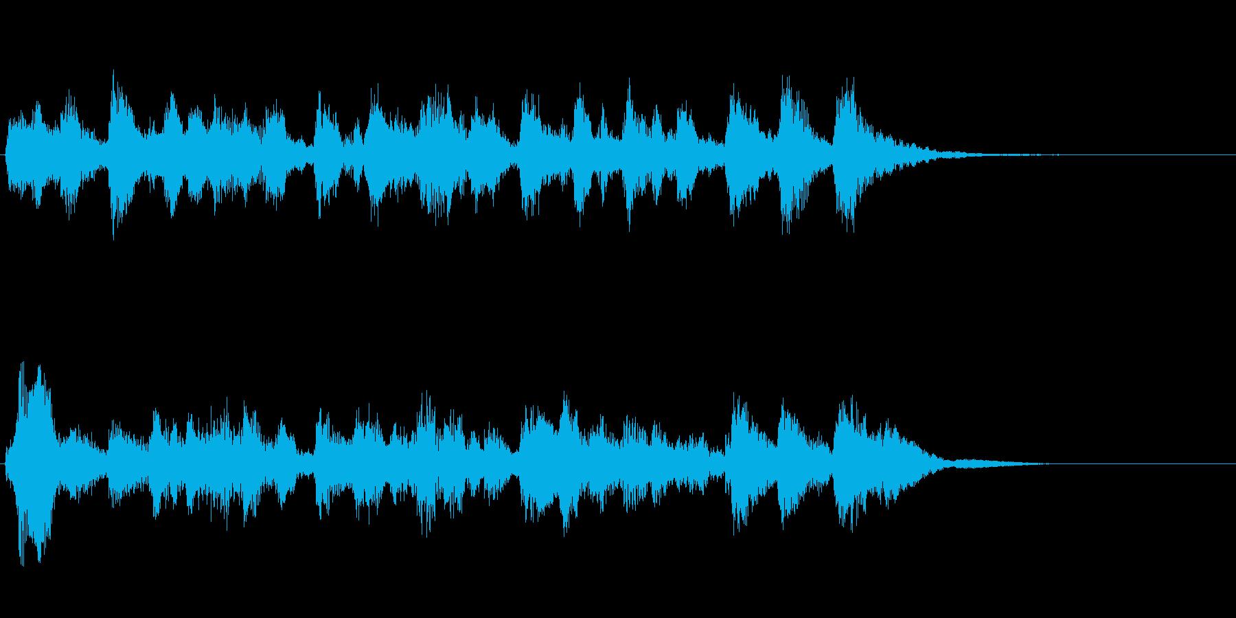 ピチカートの可愛い話題転換ジングルの再生済みの波形