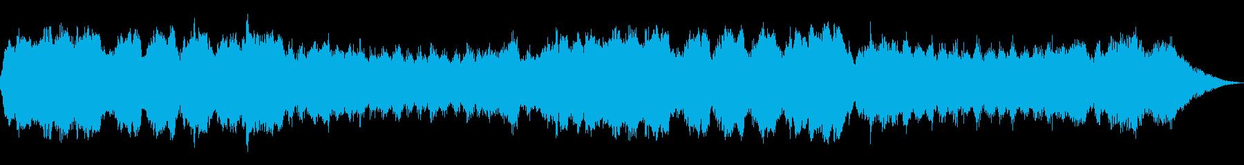 不安のテーマ30秒BGMの再生済みの波形