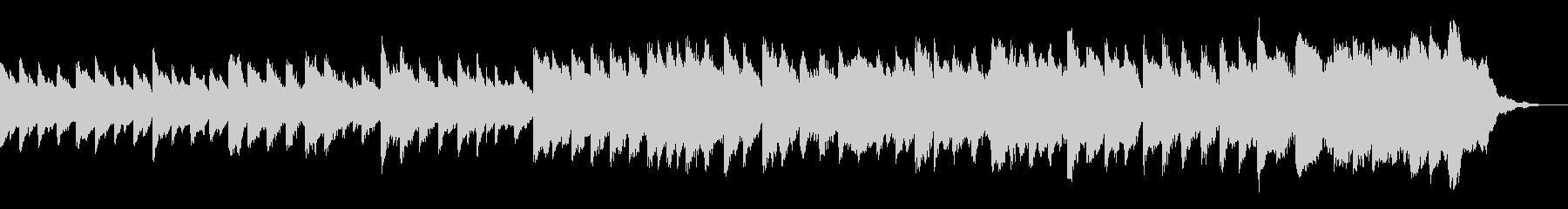 やや切ないピアノコードと弦=盛り上がるの未再生の波形
