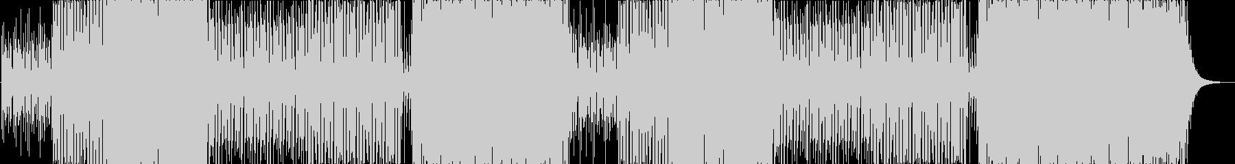 少し速めのトロピカルハウスの未再生の波形