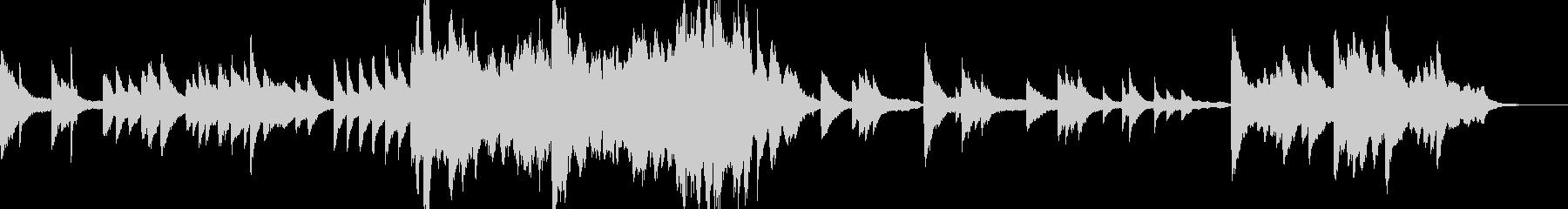 切ない旋律のバラードの未再生の波形
