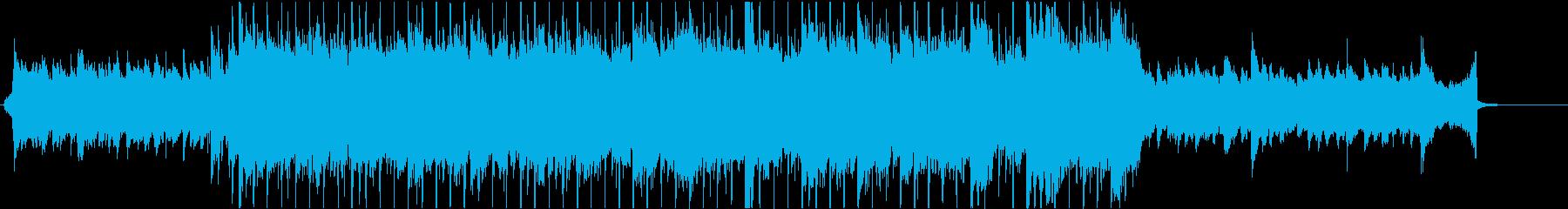Aギターが印象的、明るいBGM60秒編集の再生済みの波形