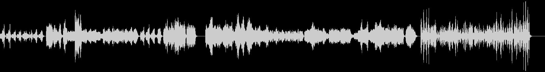 シュールなリコーダー曲の未再生の波形
