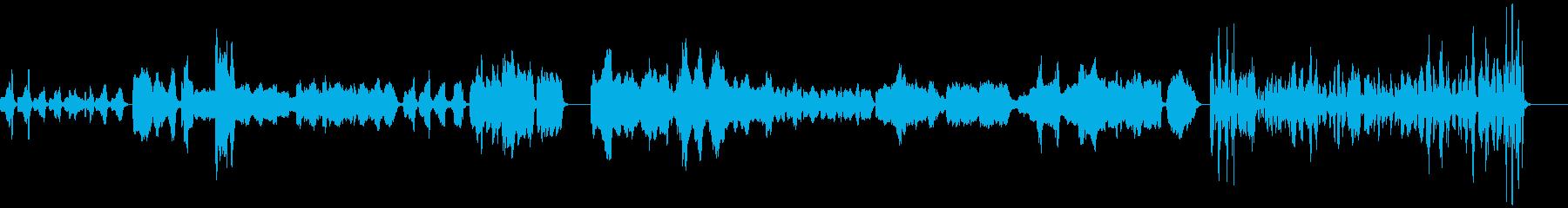 シュールなリコーダー曲の再生済みの波形