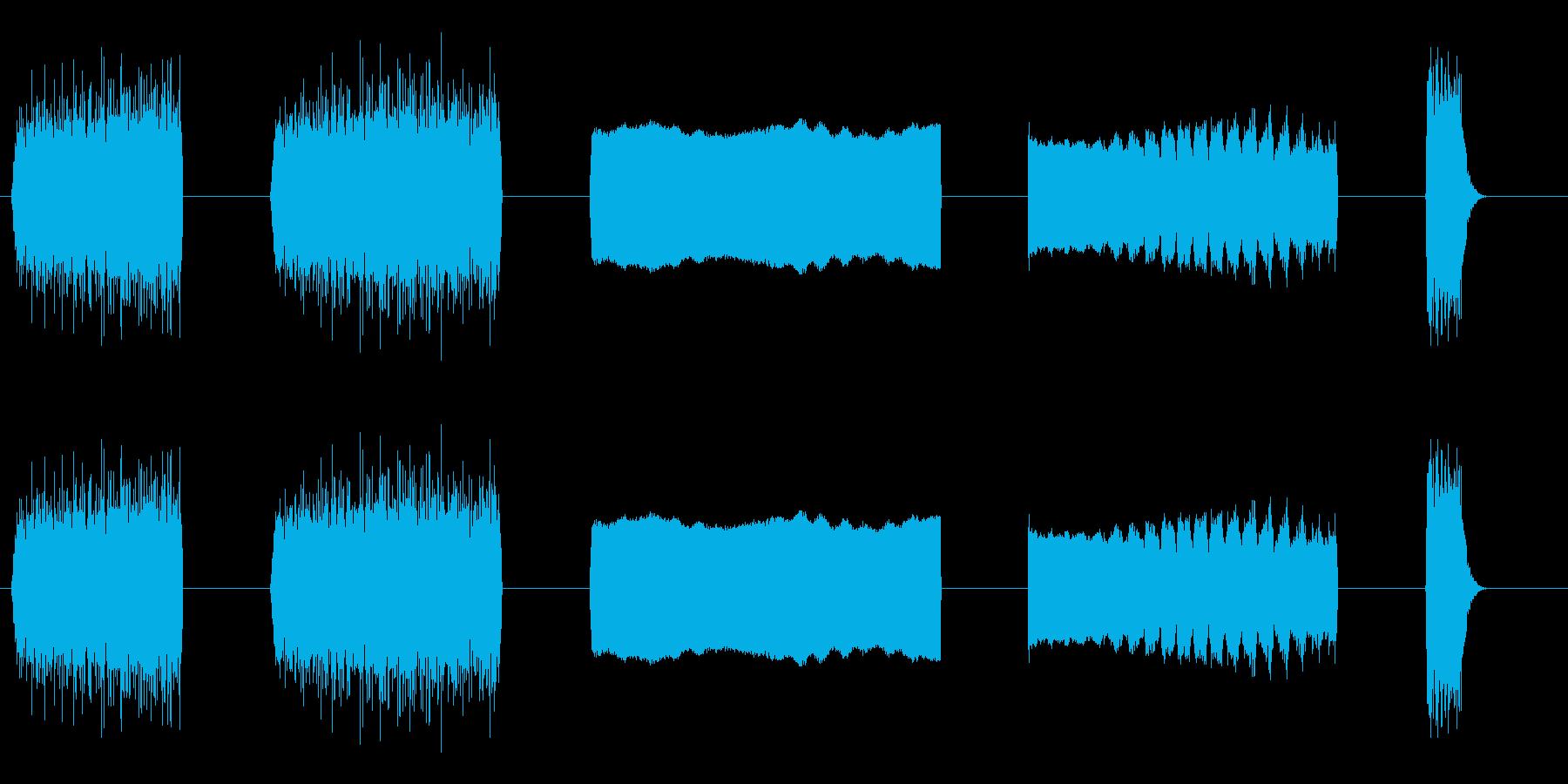 レーザービームミディアムレーザービ...の再生済みの波形