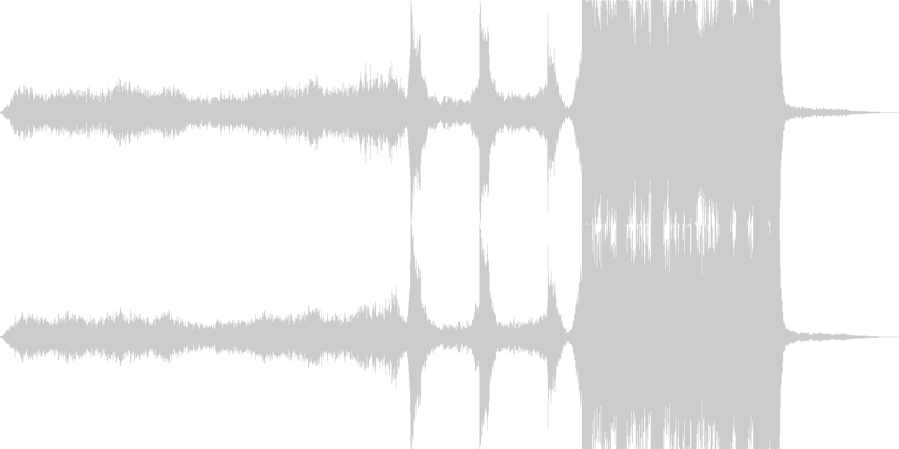 雄大なダイナミクスを持つ映画トレーラーの未再生の波形