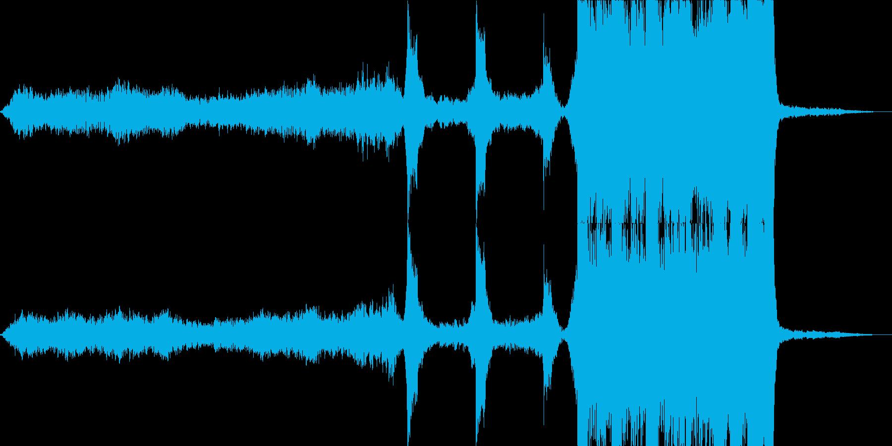 雄大なダイナミクスを持つ映画トレーラーの再生済みの波形