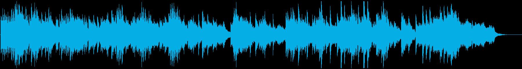 幻想的なバイオリンとチェロとピアノの調べの再生済みの波形
