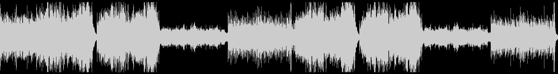 ストリングスと木管のホラー曲。3拍子の未再生の波形