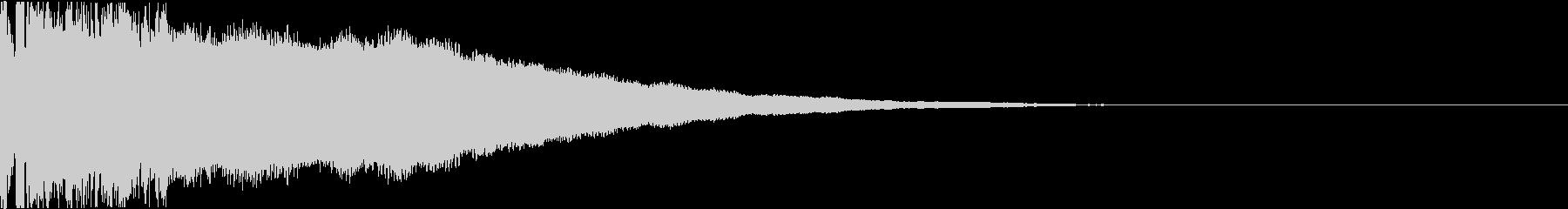 ピキーン:当たり・衝撃・ヒットの未再生の波形