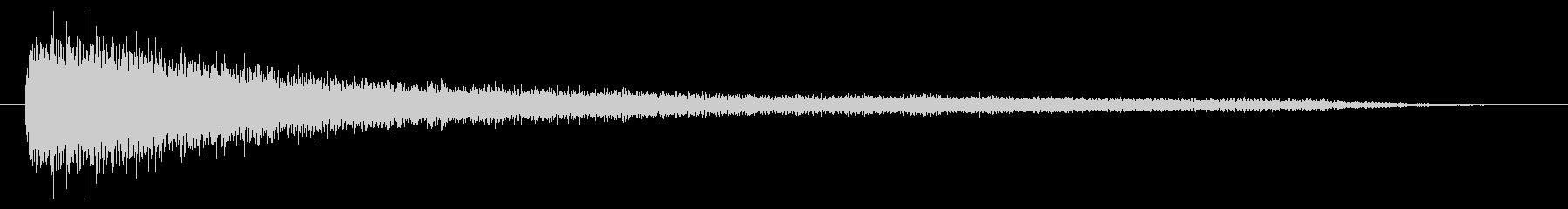 素材 ピアノの深い不協和音01の未再生の波形