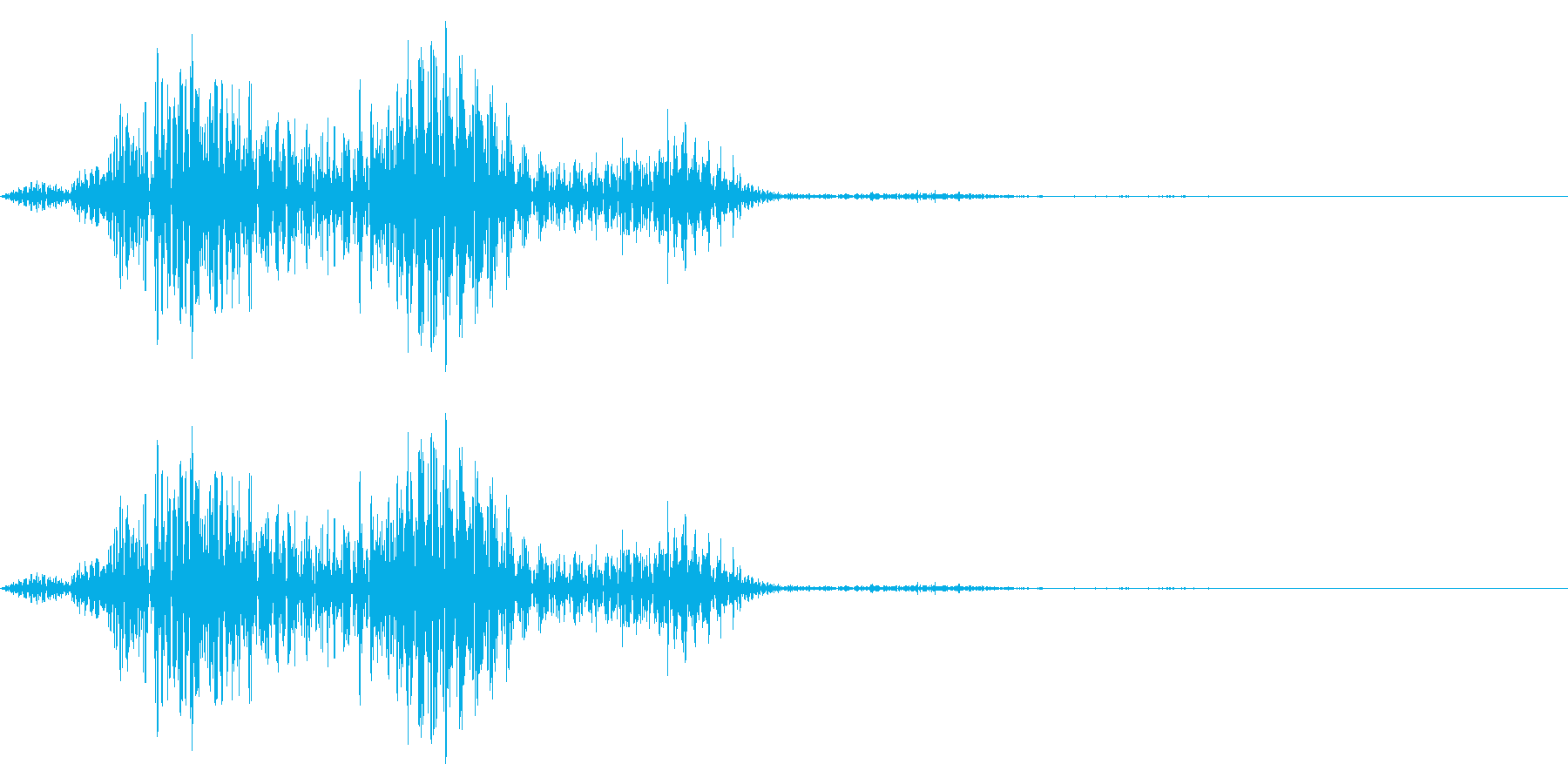 コメディタッチの擬音です。スワイプ音な…の再生済みの波形