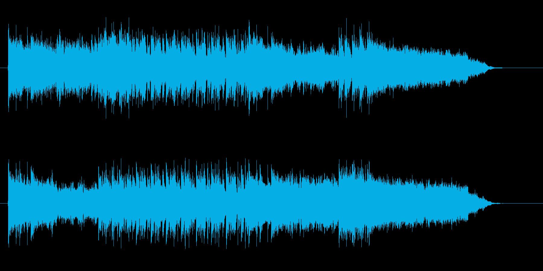 近未来や宇宙感のあるシンセギターサウンドの再生済みの波形