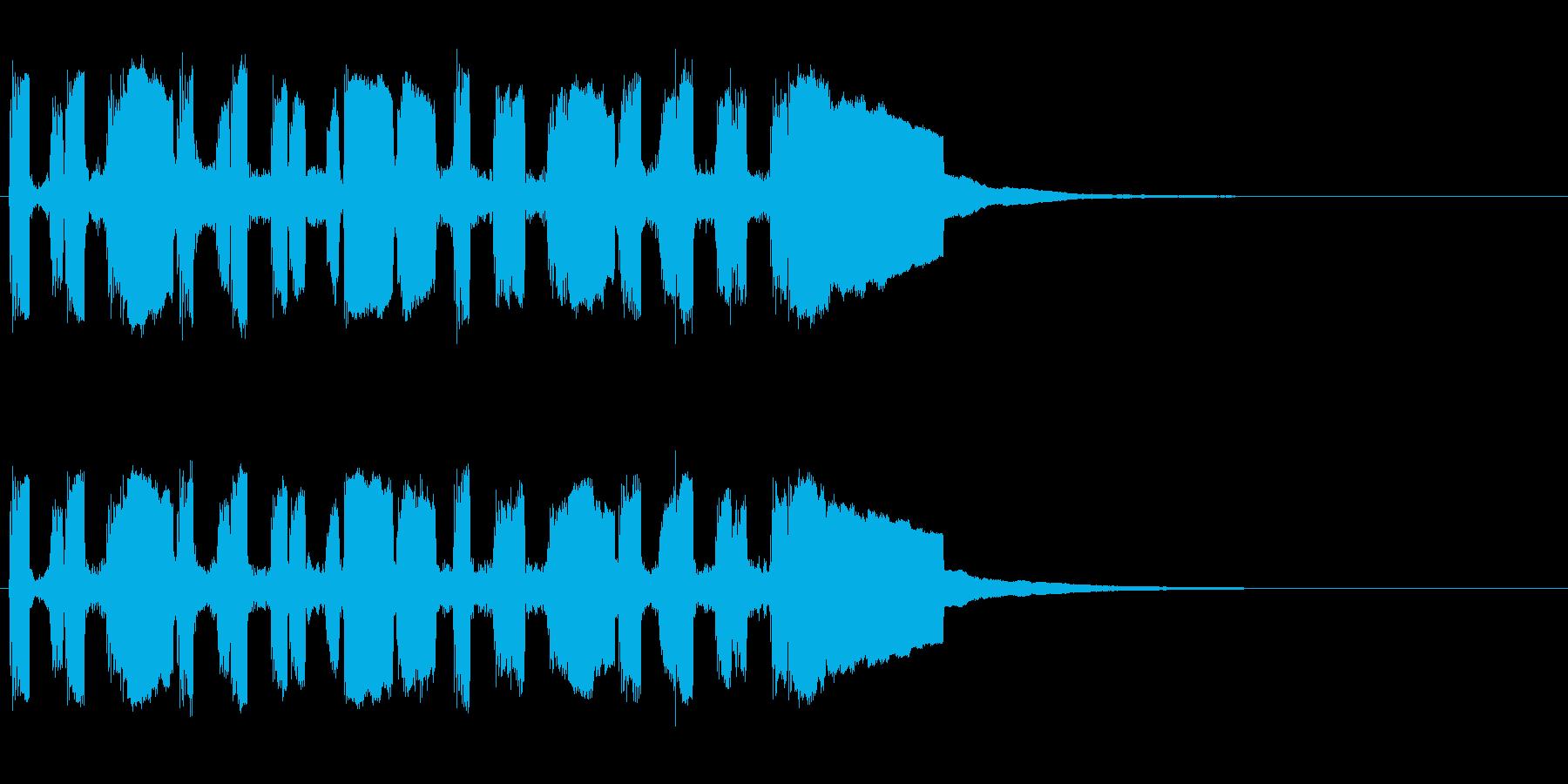 オリジナルメロディーの突撃ラッパ風の再生済みの波形