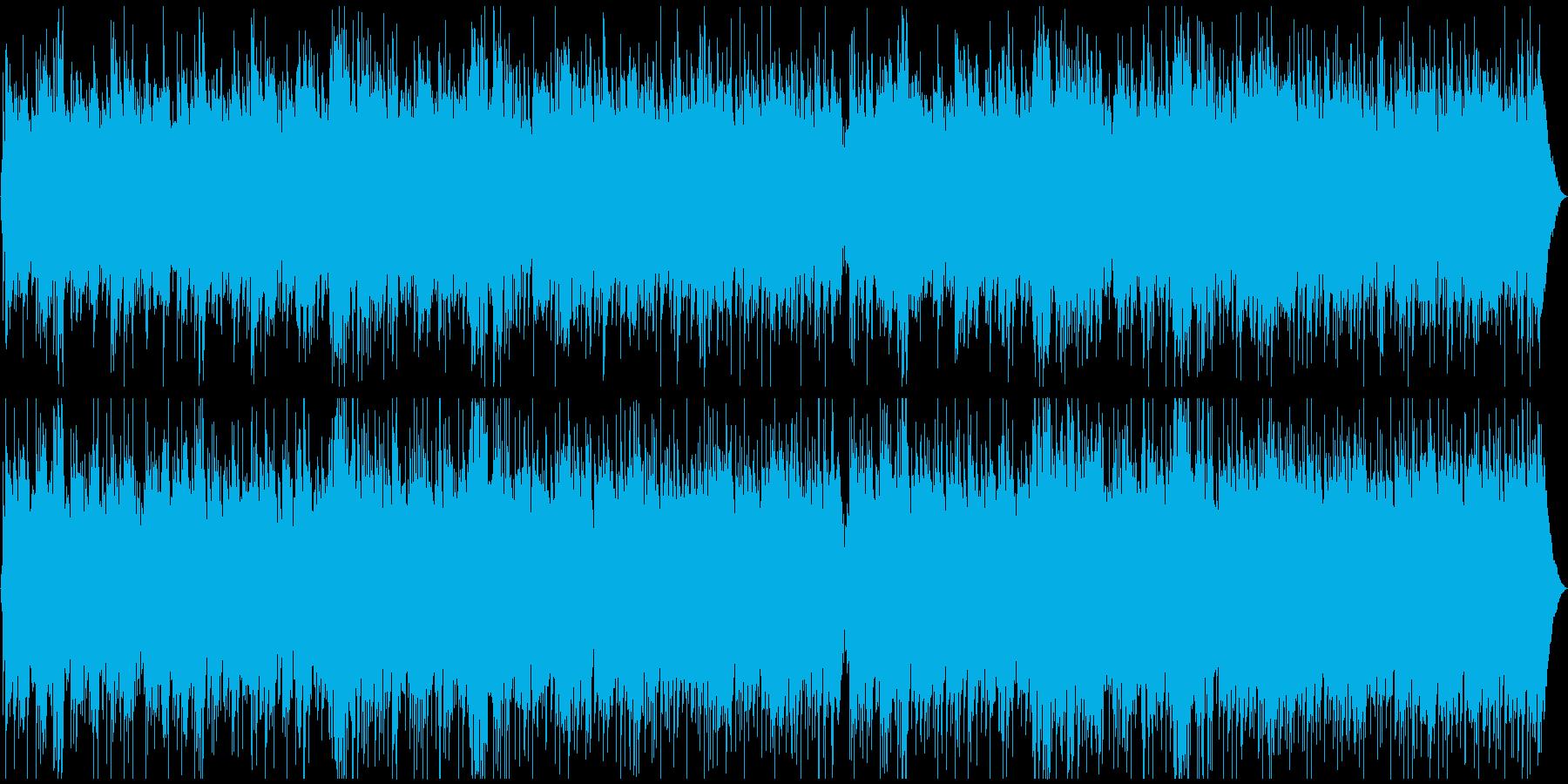 優雅で優しいメロディーのピアノの曲の再生済みの波形