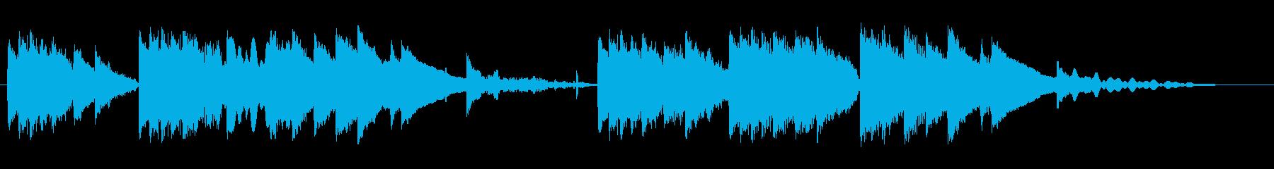 小鳥のさえずりとピアノ 静かなひとときの再生済みの波形