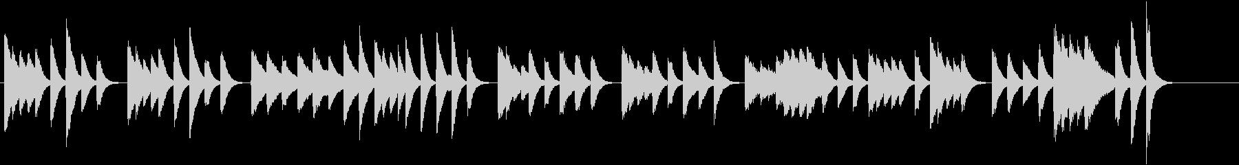 猫動画に♪ほんわかメロディピアノジングルの未再生の波形