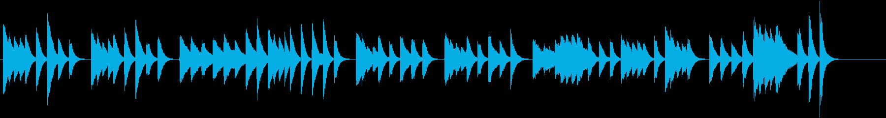 猫動画に♪ほんわかメロディピアノジングルの再生済みの波形