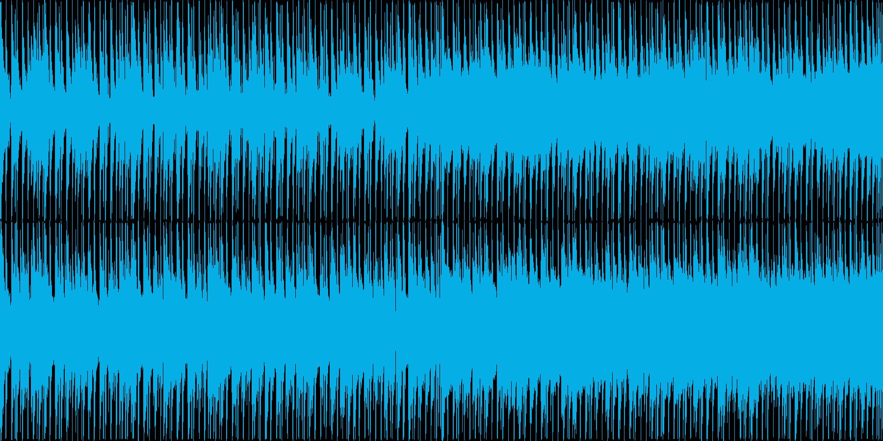 楽しい雰囲気のBGM(ループ)の再生済みの波形