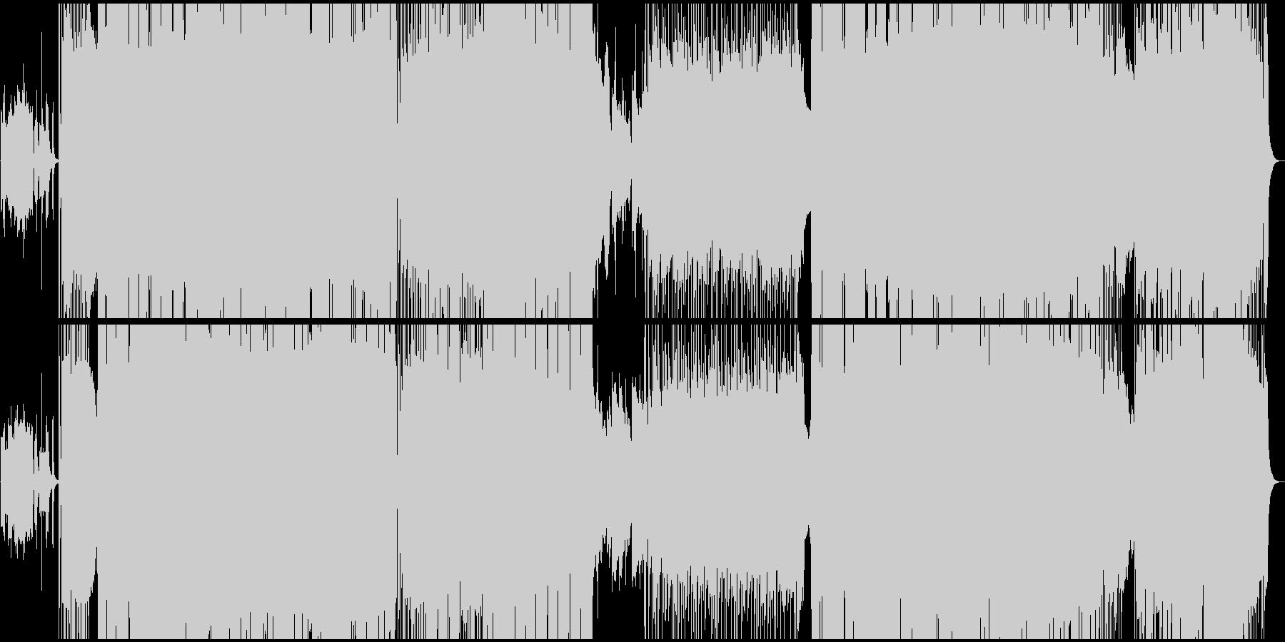 サムライがテーマの重厚なパンクロックの未再生の波形