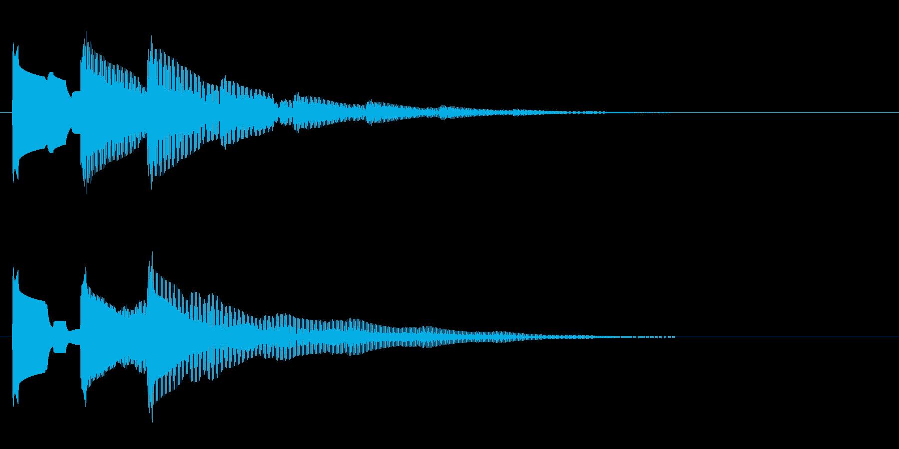 開閉音 2の再生済みの波形