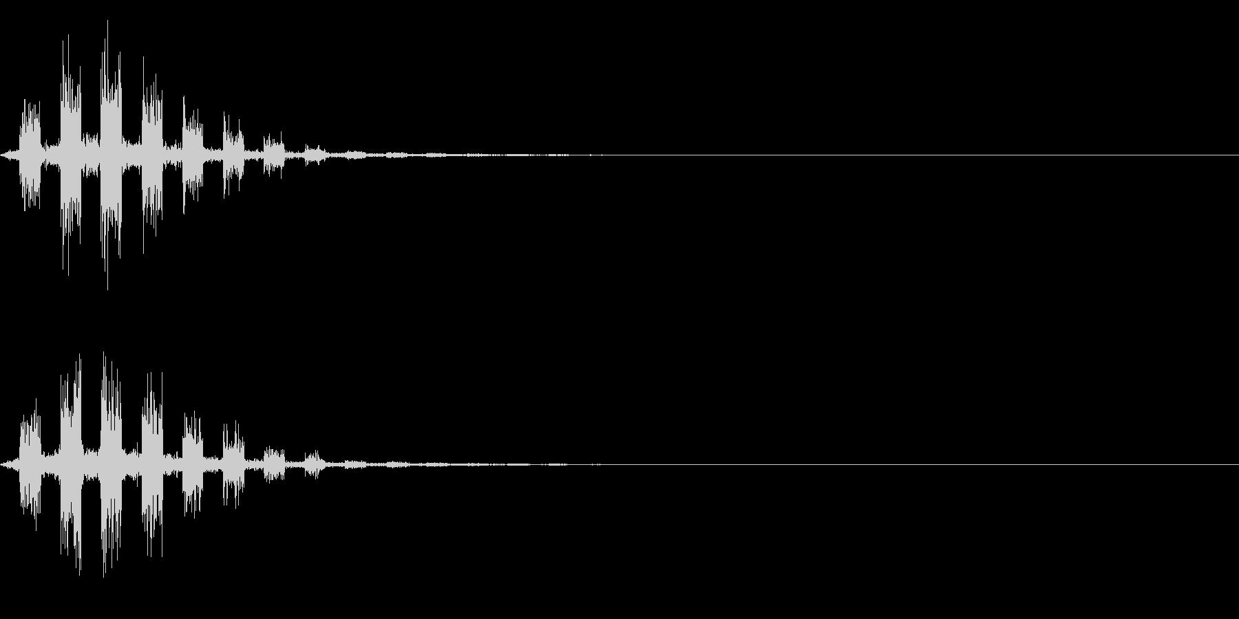シャカカカの未再生の波形