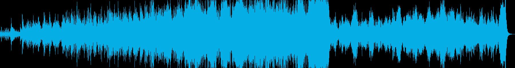 三拍子の優雅なワルツの再生済みの波形