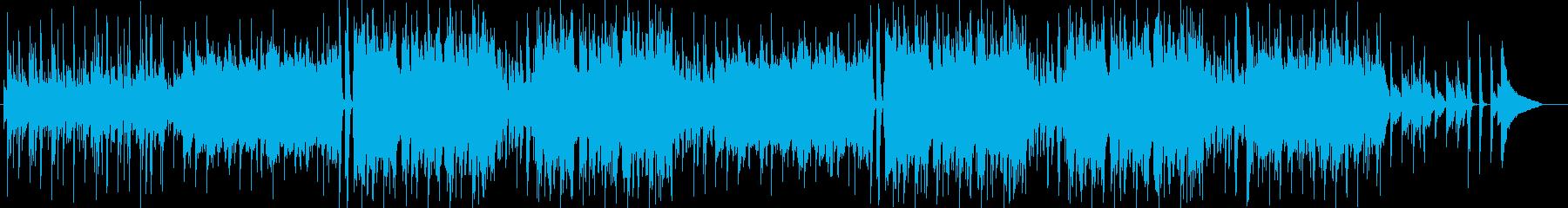 ほのぼのとしたかわいいBGMの再生済みの波形