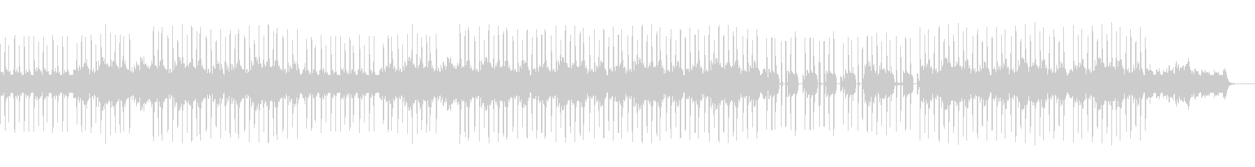 サンプリングループのヒップホップサウンドの未再生の波形